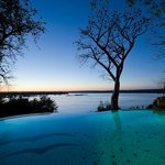 The Swimming pool over looking the Zambezi River