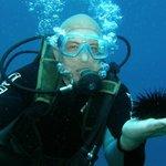 Buceando con un erizo de mar!