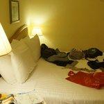 A suite confortável e ampla