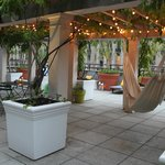 Rooftop terrace with hammock