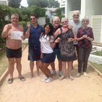 our French Boules friends. lovely people.