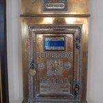 Original letter box - located by elevators - still in use!