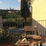 le soir sur la terrasse avec vue