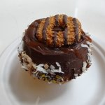 The Girl Scout Cookie caramel coconut cupcake