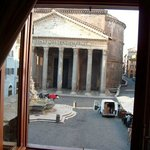 View of The Pantheon from the room at 6am