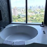 Big round bathtub