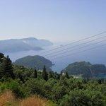 paleokastritsa bay from the top