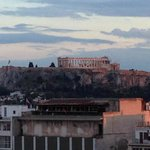 view of Acropolis/Parthenon from Olive Garden terrace