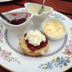 Lovely scone with jam & cream