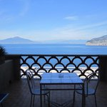 Balcony view of Vesuvius and Sorrento