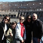 At the Colosseum..