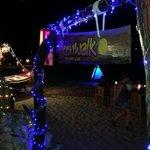 Restaurant entranca by night