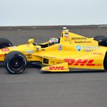 ryan hunter-reay, this year's winner, running at the nearby indianapolis motor speedway