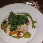Bluefish,  fish was excellent and the vegtables were a great complement and also excellent