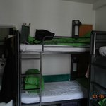 bunks, good lines, private plus and light, mirror and sink inside room