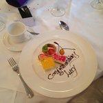 Wedding breakfast dessert