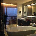 banheiro com vista opcional para o quarto