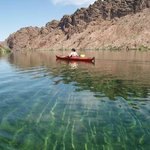 Kayak Canyon Tour - crystal clear water in the Black Canyon