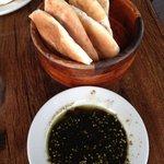 Delicious Warm, Fresh Pita Bread and Dip