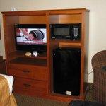 TV and MicroFridge