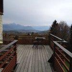 grande terrasse, transats et belle vue