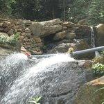 Waterfalls in resort