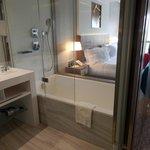 Bathroom (blinds up!)