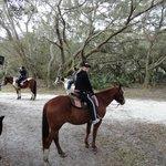 Horseback riding on Patrick