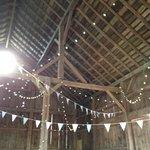 Wedding decor in Barn for reception