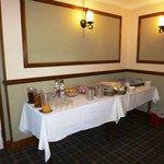 Laden buffet breakfast table