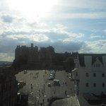 Edinburgh Castle, just a stone throw away.