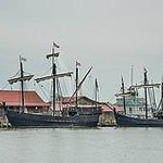 Replicas of the Nina and Pinta at the Chesapeake Bay Maritime Museum