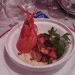 Plat: civet de homard, lardons. .au caramel. Cuisson! !