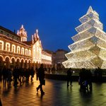 Praça da República de Braga no Natal