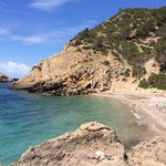 The lovely secluded beach we hiked to.