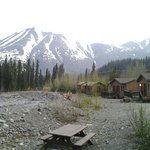 Cabins, creek and views