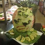 Great food art in the dinning room