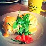 Eggs Benedict over Crab Cakes!