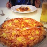 Amazing Ham & Pineapple Pizza and Lasagne.