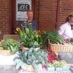 Beautfiul produce and flowers on Wed afternoons