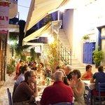 Malamatenia tavern, night of August summer 2013