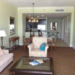 Living Room - 1 bdrm deluxe suite