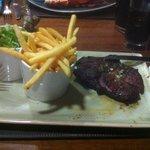 Rib eye Steak and chips