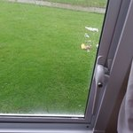 Broken window lock on bedroom meaning rain came in made babies cot damp elm 31