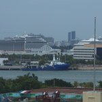 Camera zoom of Port of Miami