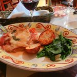 Chicken Dish with Roasted Potatoes and Spinach