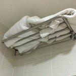 So werden die Handtücher präsentiert - Liebe zum Detail?