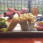 Rock Star Burger with Garlic Parmesan Fries