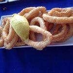 Halbe Portion Calamares, sehr lecker