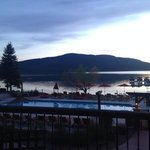 View from the patio of Whitefish Lake